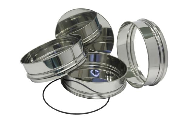 Промежуточный поддон и кольцо, крышка, поддон и уплотнительное кольцо Сито С20.38