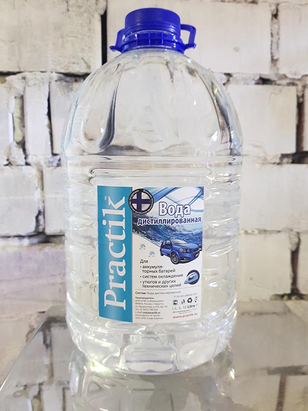 Вода дистиллированная для аккумуляторов и теплоносителей Practicum