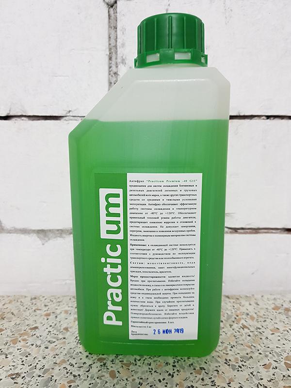 Антифриз PracticUM Green Premium -40 G11 зеленый