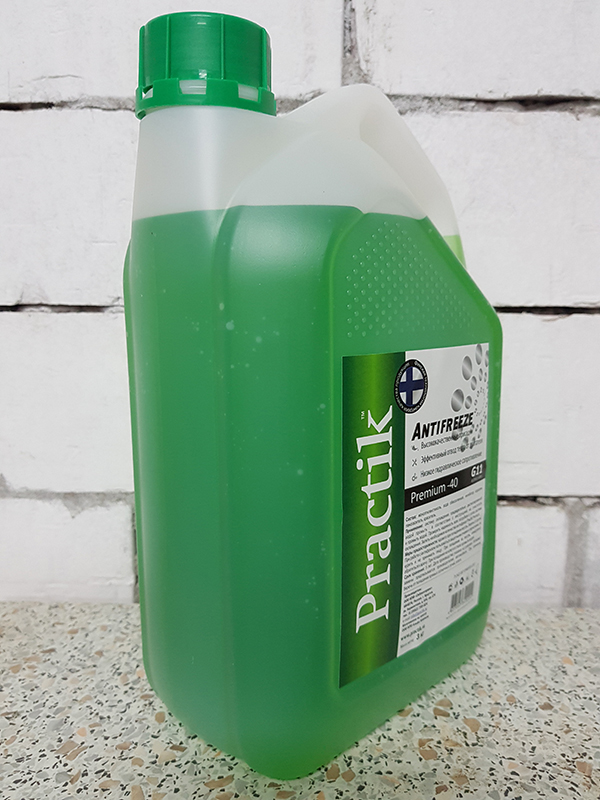 Антифриз PracticUM Green Premium -40 G11 зеленый (канистра 3кг)