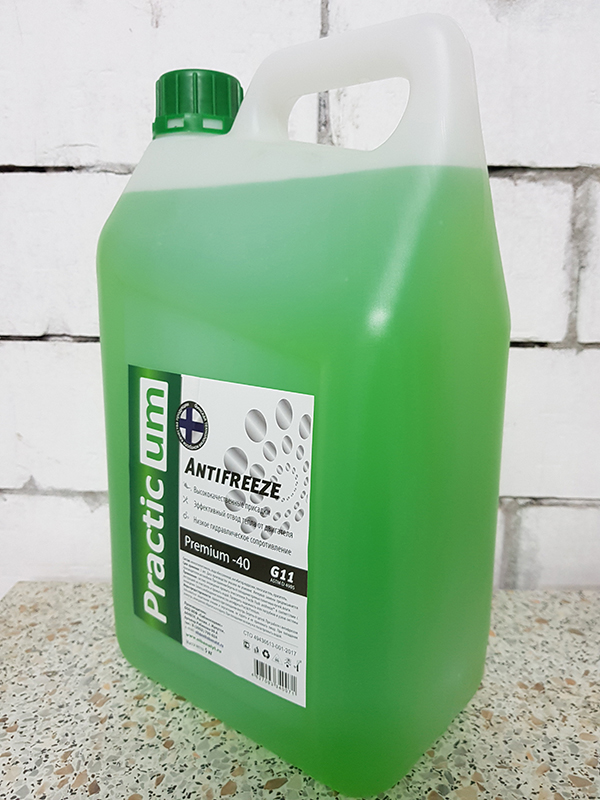 Антифриз PracticUM Green Premium -40 G11 зеленый (канистра 5кг)