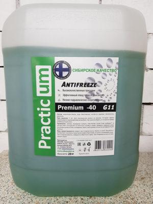 Антифриз PracticUM Green Premium -40 G11 зеленый (канистра 20кг)