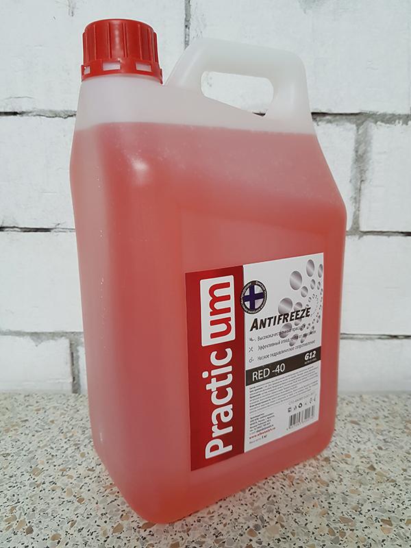 Антифриз PracticUM Red -40 G12 красный (канистра 5кг)
