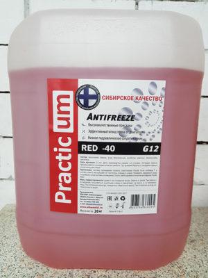 Антифриз PracticUM Red -40 G12 красный (канистра 20кг)