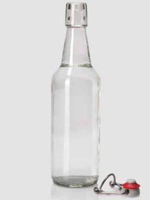 Бутылка стеклянная Ломбир 500 мл с бугельной пробкой