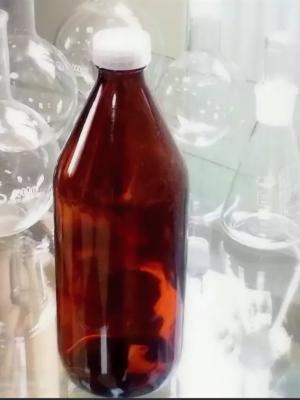 Бутылка стеклянная для реактивов БВ-1-1000 узкое горло, с навинчивающейся полиэтиленовой крышкой